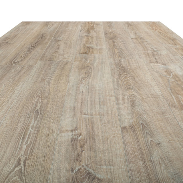 Kronotex Exquisit 8mm White Washed Oak 4V Laminate Flooring