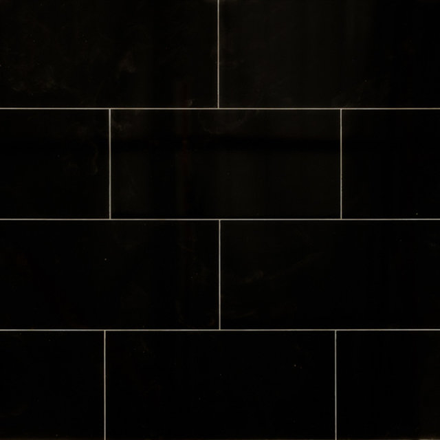 Black Gloss Kitchen Wall Tiles: Black Tile Laminate Flooring