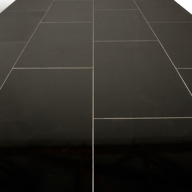 Kronotex Glamour 8mm High Gloss Tile Black 4V By Falquon Laminate Flooring