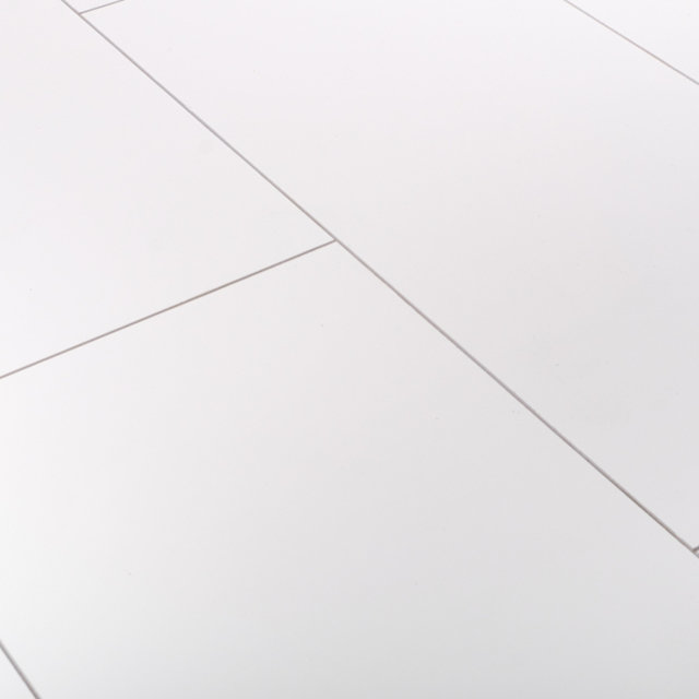 Kronotex Glamour 8mm High Gloss Tile White 4V by Falquon Laminate Flooring Thumbnail