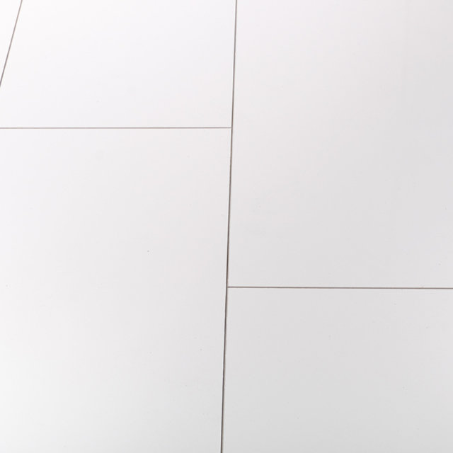 Kronotex Glamour 8mm High Gloss Tile White 4V by Falquon Laminate Flooring