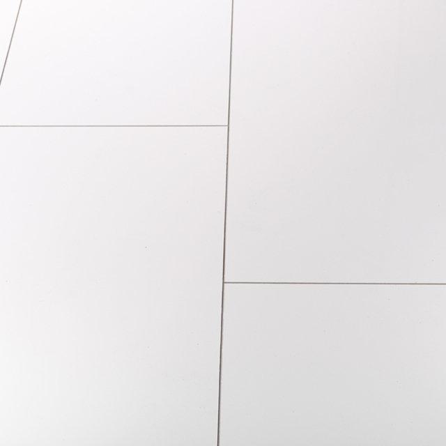 Gloss Tile Effect Laminate Flooring Part - 24: Kronotex Glamour 8mm High Gloss Tile White 4V By Falquon Laminate Flooring  Thumbnail