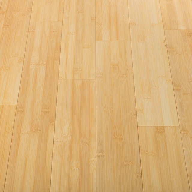 Solid Bamboo Natural Hardwood Flooring (Horizontal)