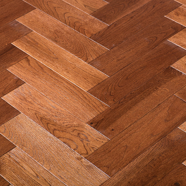 Buy chateau oak herringbone solid hardwood flooring for Solid oak wood flooring sale