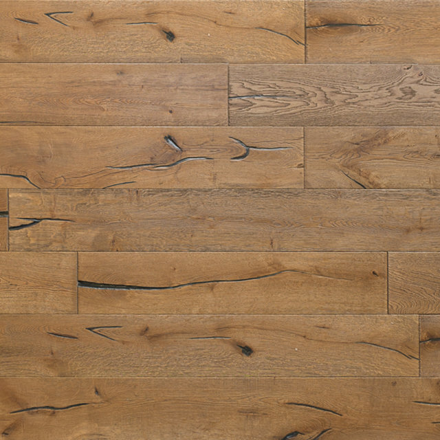 Engineered Antique Oak Light Brown Hardwood Flooring