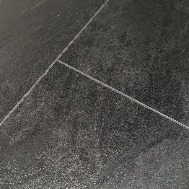 Binyl Pro 8mm Brecon Slate Tile Effect, Black Slate Tile Effect Laminate Flooring
