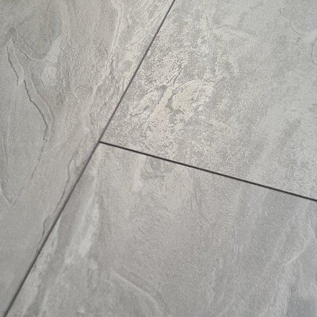 Binyl Pro 8mm Moonslate Tile Effect 4v, Waterproof Laminate Flooring Tile Effect