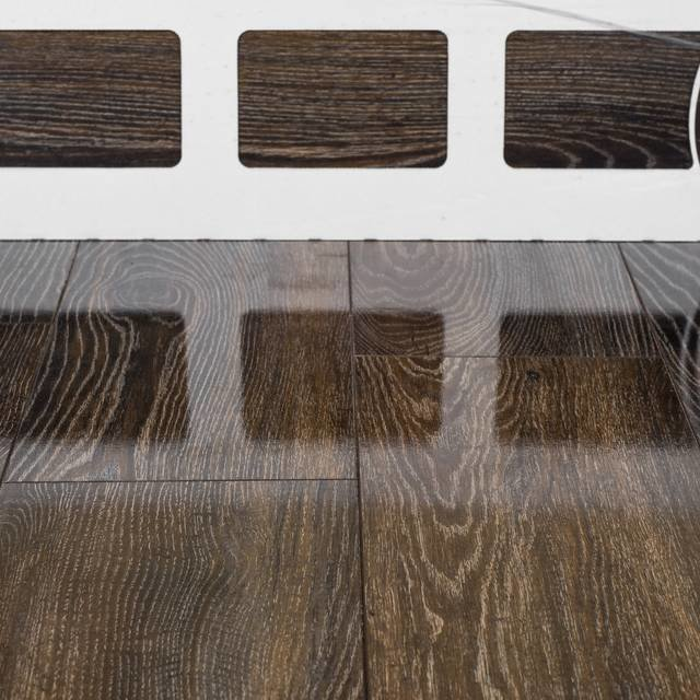 Kronotex Glamour High Gloss 8mm Canyon Black Oak 4V by Falquon Laminate Flooring