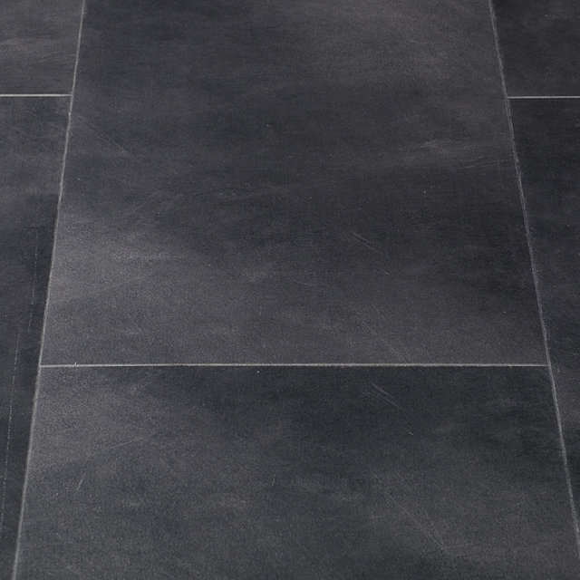 Luxury Vinyl Flint Stone Black Tile