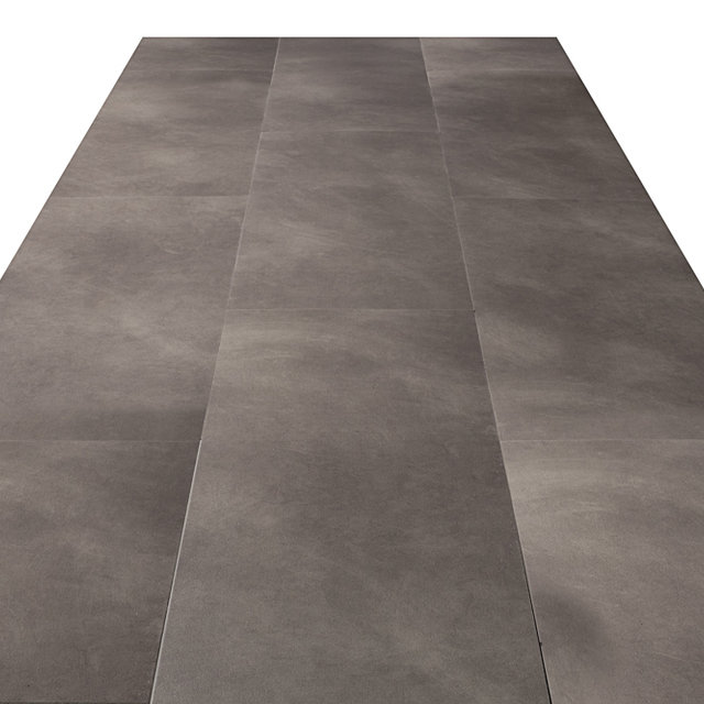 Luxury Vinyl Flint Stone Grey Tile