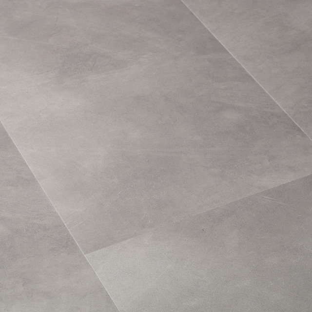 Luxury Vinyl Flint Stone Light Grey Tile