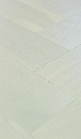 Engineered Polar White Herringbone