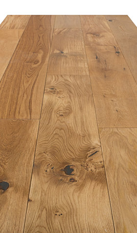 Solid Brushed Oak Hardwood Flooring 18mmx180mm