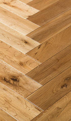 Solid Herringbone Oak Natural Hardwood Flooring