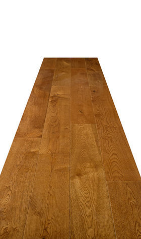 Engineered Oak Smokey Lacquered Hardwood Flooring 18mmx150mm