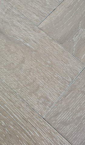 Solid Herringbone Smoked White Oak 18mm x 90mm x 400mm