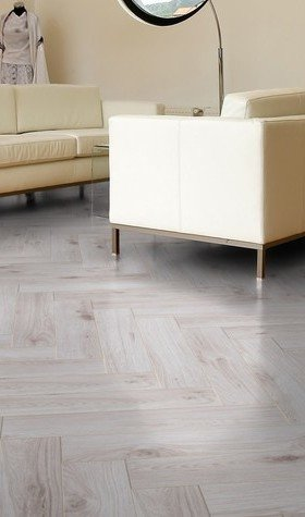 Millenium Oak White Herringbone Laminate Flooring